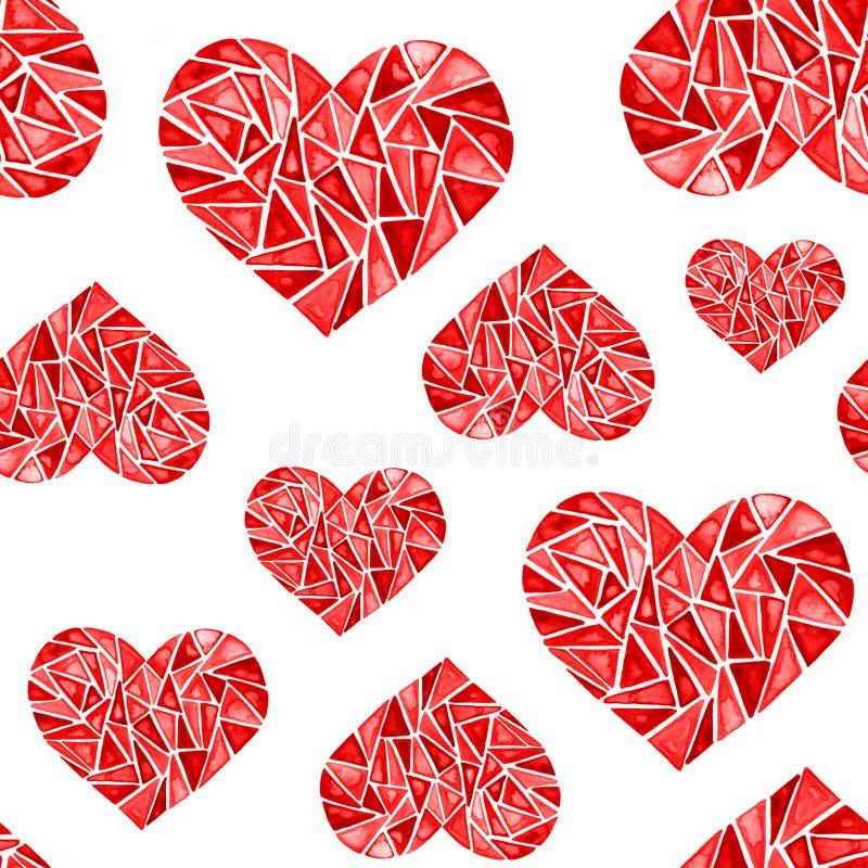 Het gebroken rode hart van het diamantjuweel - het element van Valentijnskaarten voor een kaart vector illustratie