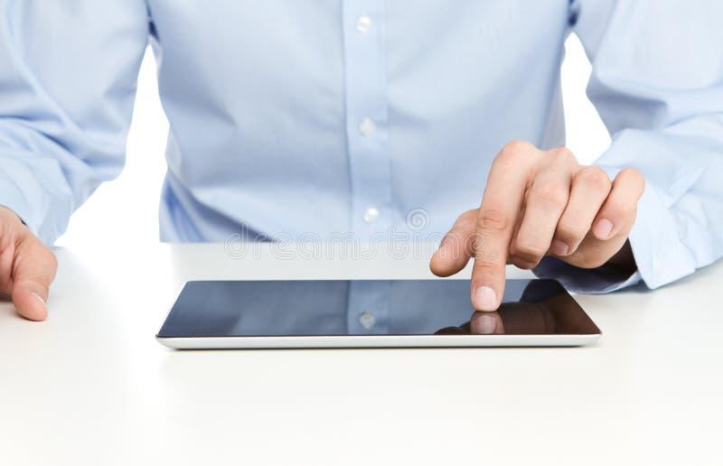 Het gebruiken van digitale tablet royalty-vrije stock foto's