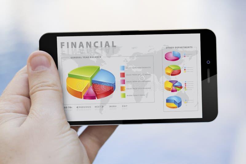 Het gebruiken van financiële app vector illustratie