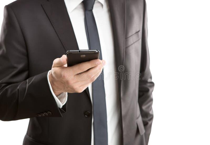 Het gebruiken van slimme telefoon royalty-vrije stock afbeeldingen