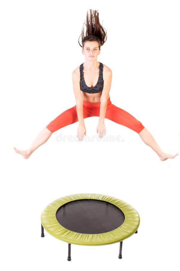 Het gebruiken van trampoline royalty-vrije stock fotografie