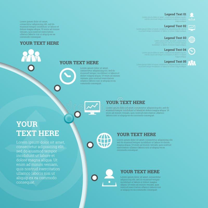 Het Gebruikersinterface Infographic van de deelcirkel vector illustratie