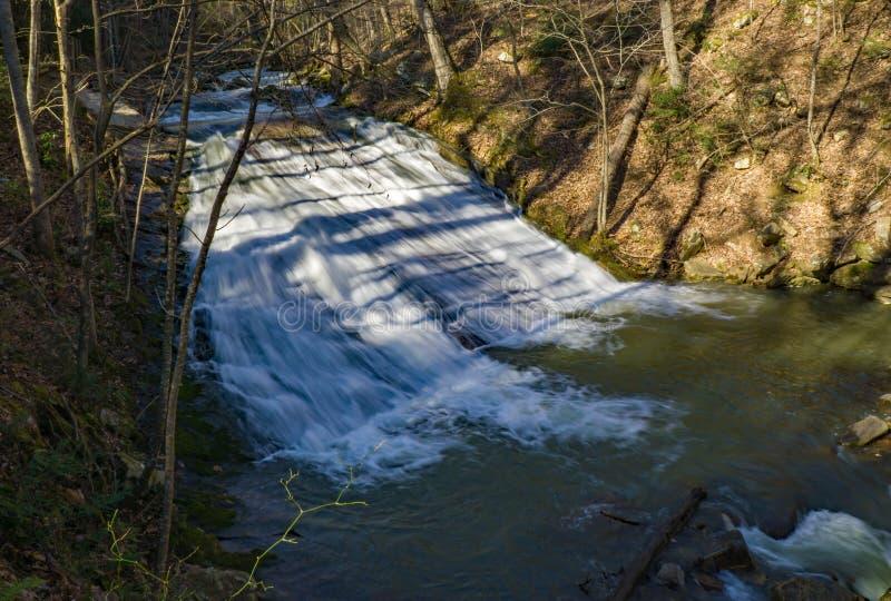 Het gebrul van In werking gestelde Waterval 3, Eagle Rock, VA royalty-vrije stock foto's