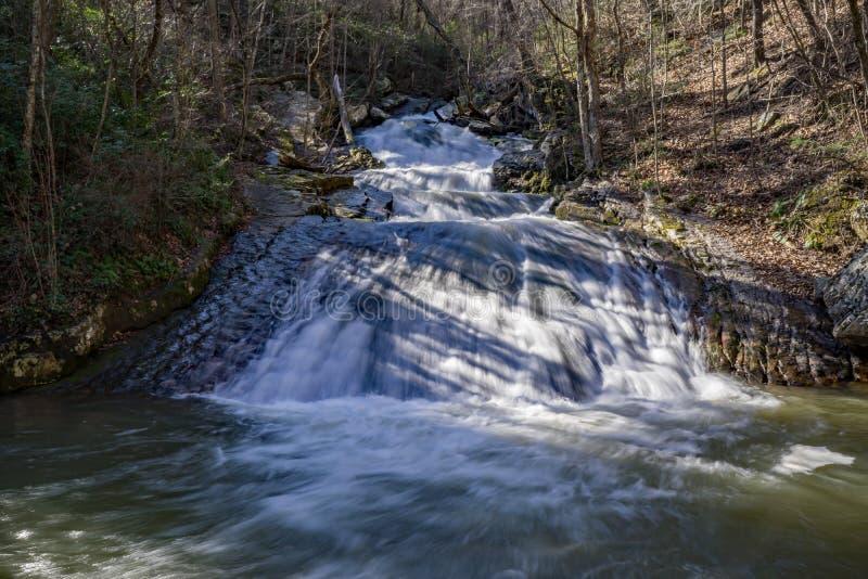 Het gebrul van In werking gestelde Waterval 5, Eagle Rock, VA royalty-vrije stock foto