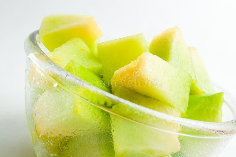 Het gedeelte van de meloen royalty-vrije stock afbeeldingen