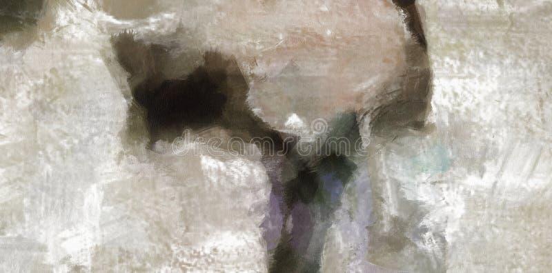 Het gedempte Abstracte Schilderen vector illustratie