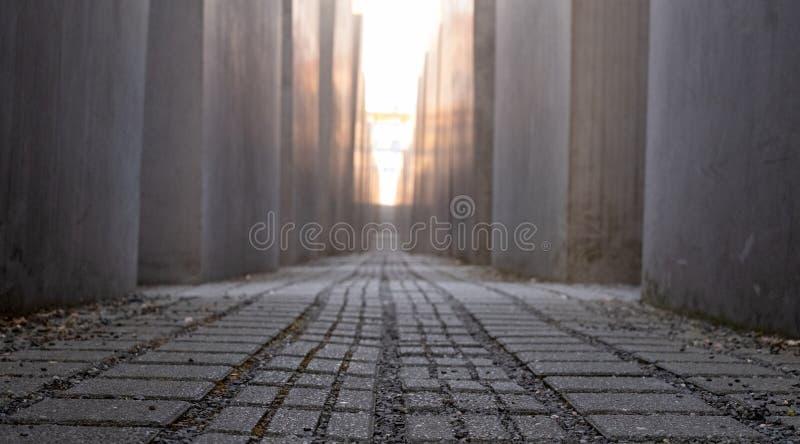 Het Gedenkteken aan de Moorde die Joden van Europa in Berlin Germany door Peter Eisenman wordt ontworpen Gefotografeerd in de rec stock afbeelding