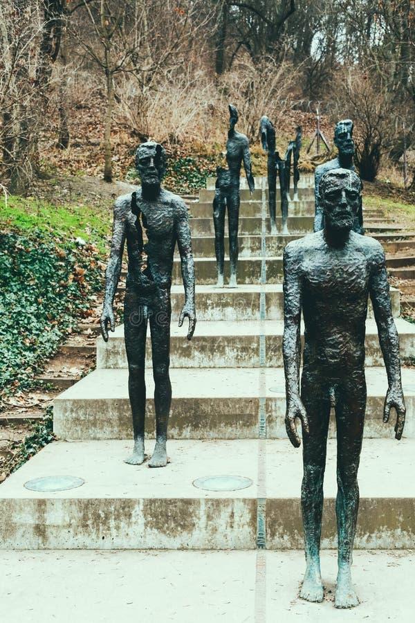Het Gedenkteken aan de slachtoffers van Communisme in Praag stock afbeelding