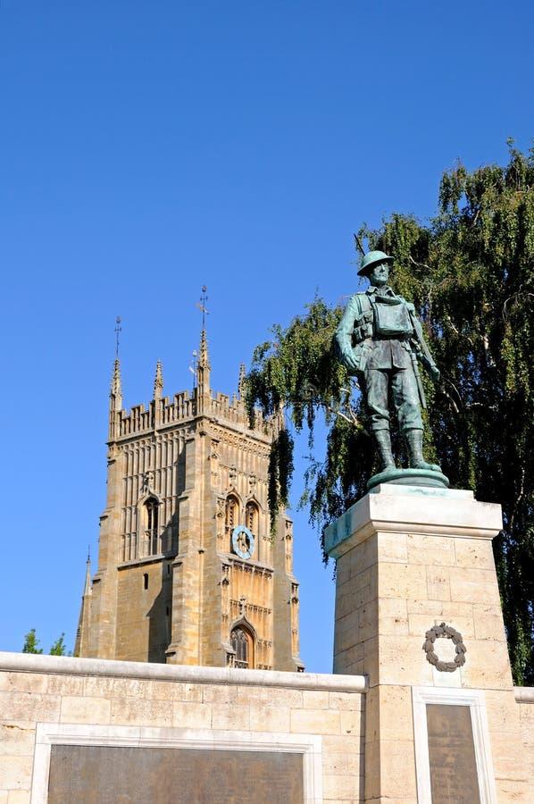 Het Gedenkteken en Abbey Tower van de Eveshamoorlog royalty-vrije stock afbeeldingen