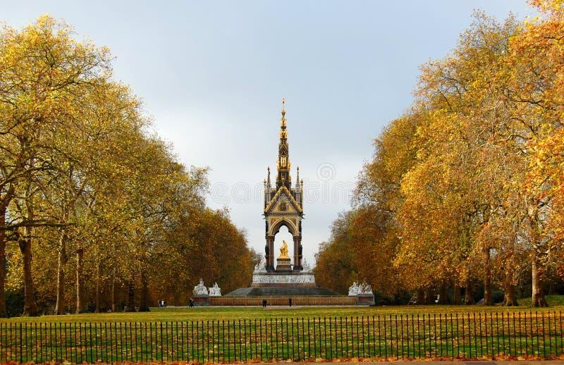 Het gedenkteken van Albert in Londen stock fotografie
