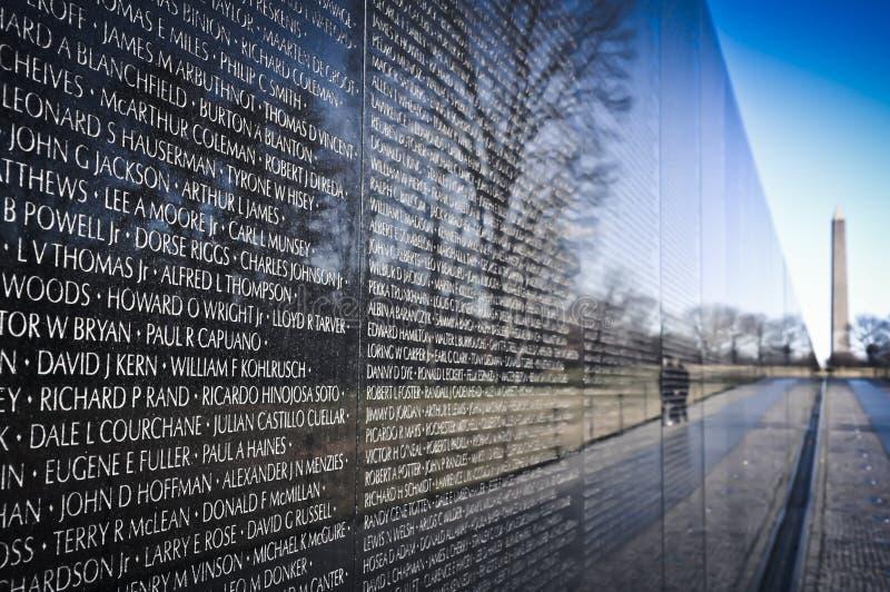Het Gedenkteken van de Oorlog van Vietnam stock foto