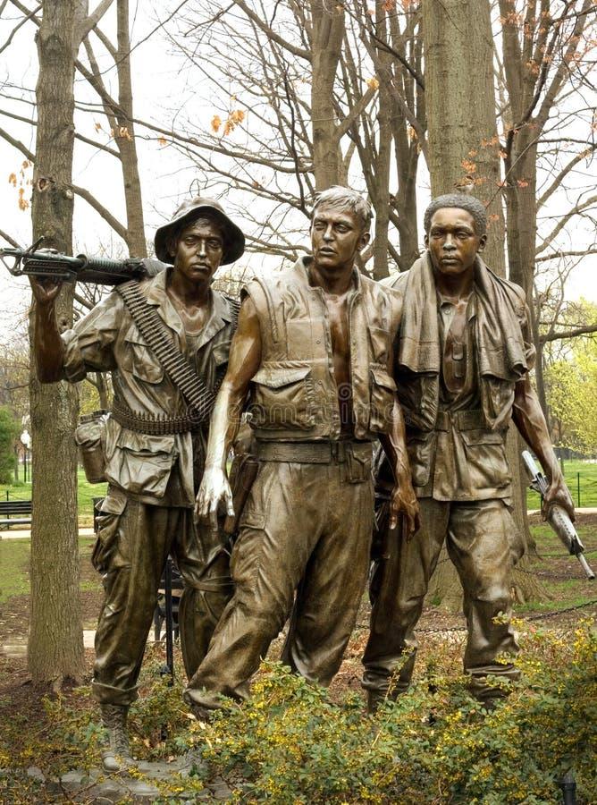 Het Gedenkteken van de Oorlog van Vietnam stock afbeelding
