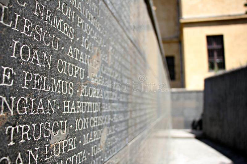 Het Gedenkteken van de Slachtoffers van Communisme en van de Weerstand stock afbeelding