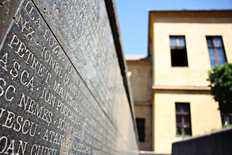 Het Gedenkteken van de Slachtoffers van Communisme en van de Weerstand stock foto's