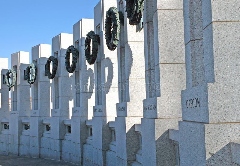 Het Gedenkteken van de Wereldoorlog II - Washington, gelijkstroom royalty-vrije stock foto