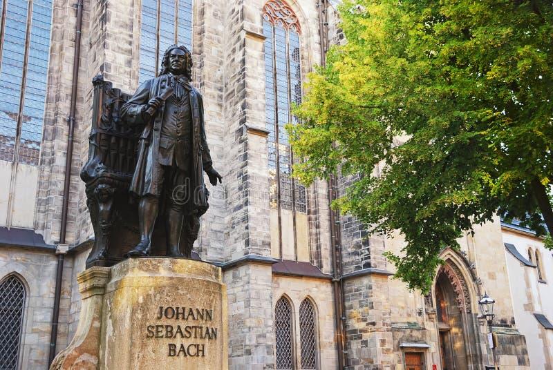 Het gedenkteken van Johann Sebastian Bach. Leipzig, Duitsland. royalty-vrije stock afbeeldingen