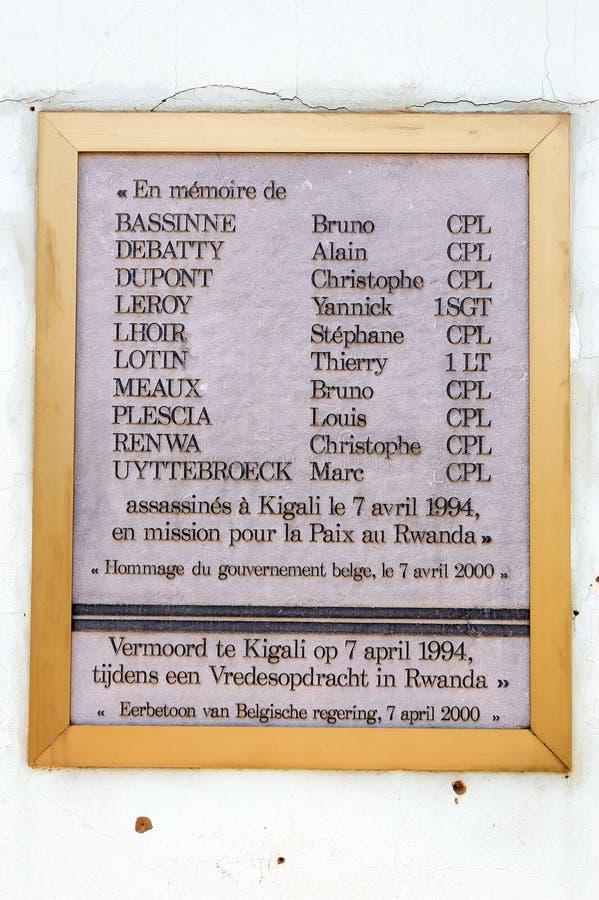 Het gedenkteken van Kigali van het kamp stock fotografie