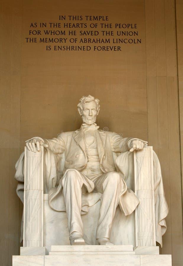 Het Gedenkteken van Lincoln stock afbeeldingen