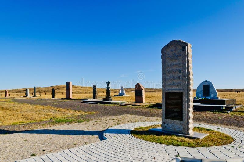 Het gedenkteken van Spassk dichtbij karaganda stock afbeelding
