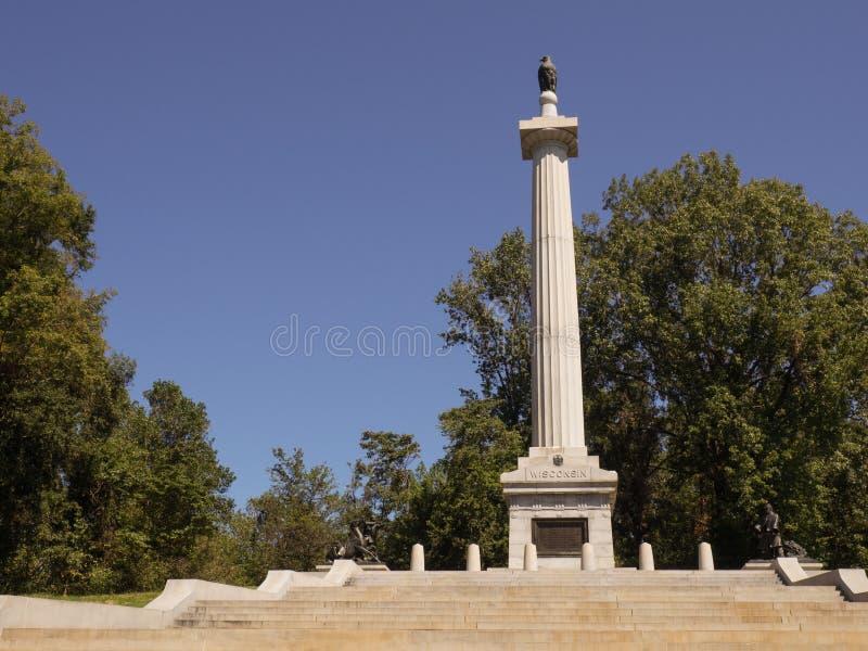 Het Gedenkteken van Wisconsin van Vicksburg royalty-vrije stock foto's