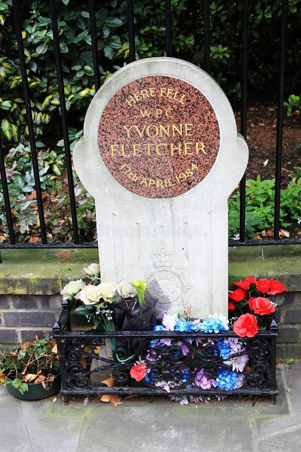 Het gedenkteken van WPC Yvonne Fletcher stock foto