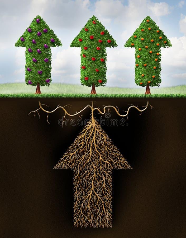 Het gediversifieerde Investeren stock illustratie