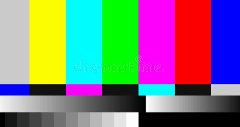 Het geen TV-scherm van de signaaluitzending royalty-vrije illustratie