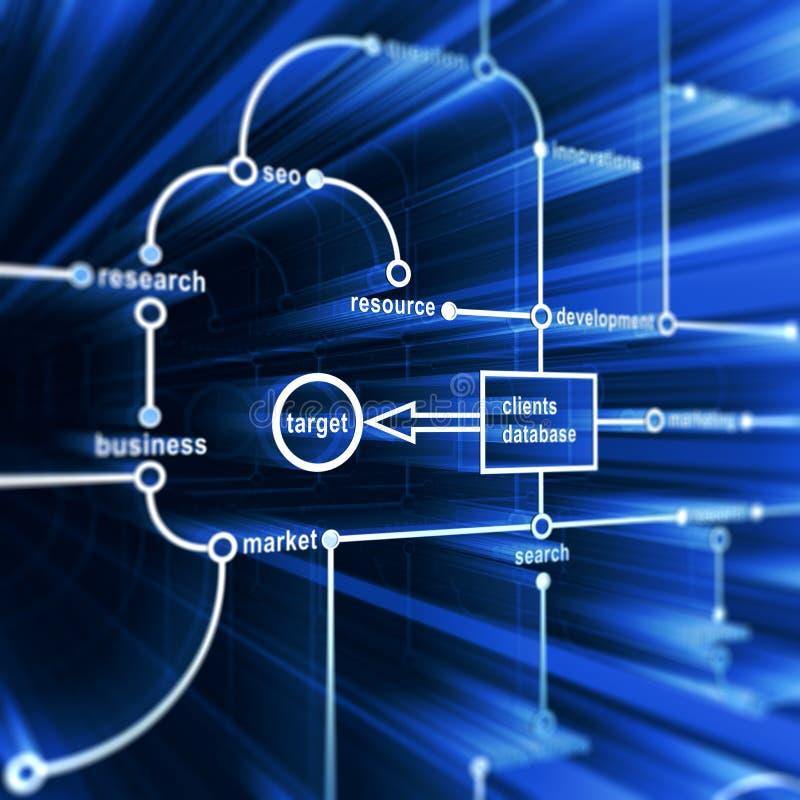 Het gegevensbestand van het concept stock illustratie