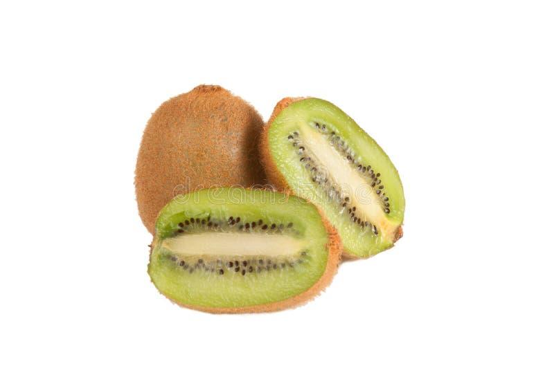 Het gehalveerde fruit van de Kiwi stock foto