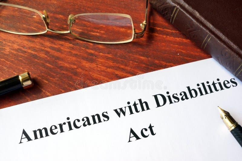 Het gehandicapte Akte van Amerikanen stock foto