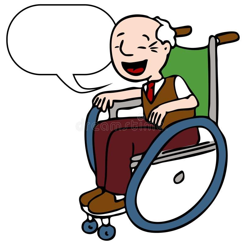 Het gehandicapte Hogere Spreken van de Mens stock illustratie