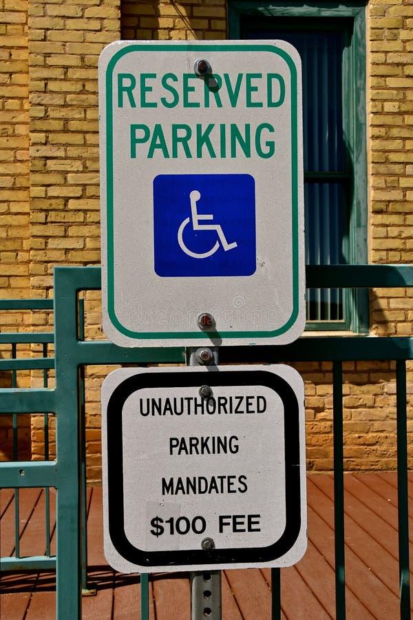 Het gehandicapte Parkeren royalty-vrije stock foto's