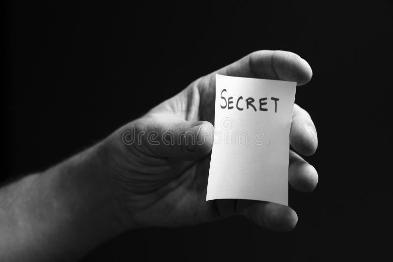 Het Geheim van de hand royalty-vrije stock afbeeldingen