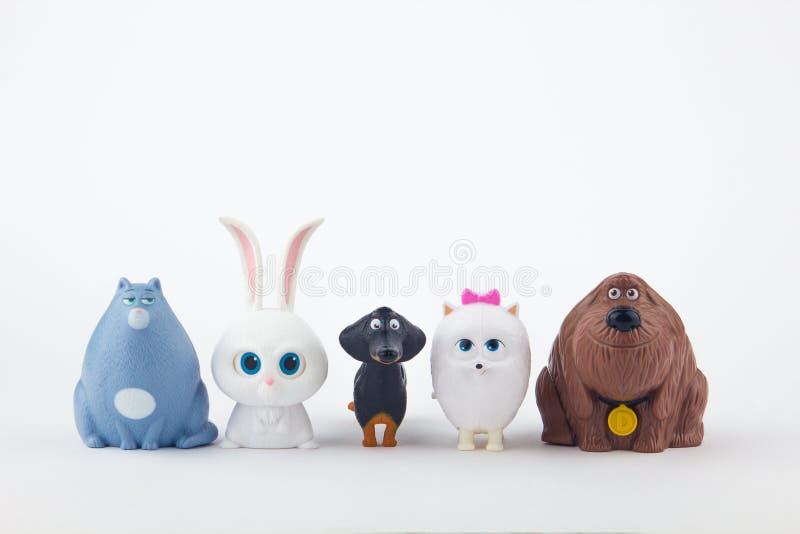 Het Geheime Leven van Huisdierenstuk speelgoed royalty-vrije stock afbeelding