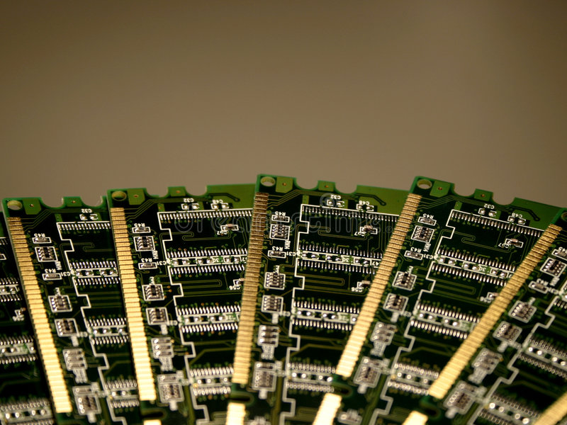 Het geheugenmodules IV van de computer royalty-vrije stock foto
