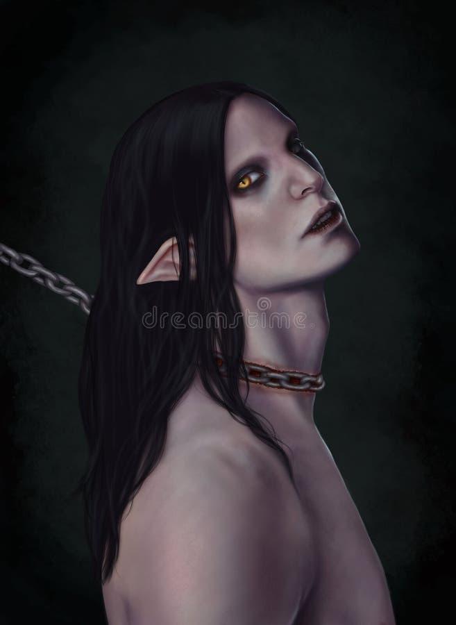 Het geketende demon stock illustratie