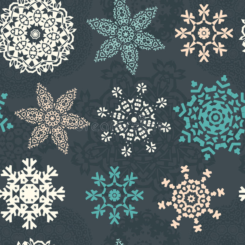 Het Geklets van sneeuwvlokkerstmis royalty-vrije illustratie