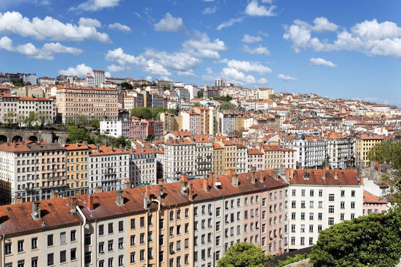 Het gekleurde district van Lyon royalty-vrije stock fotografie