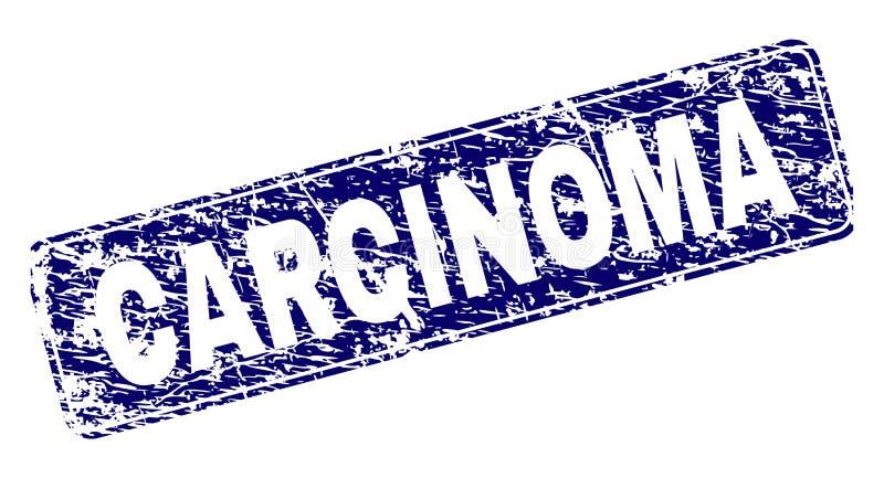 Het gekraste CARCINOOM ontwierp Rond gemaakte Rechthoekzegel royalty-vrije illustratie