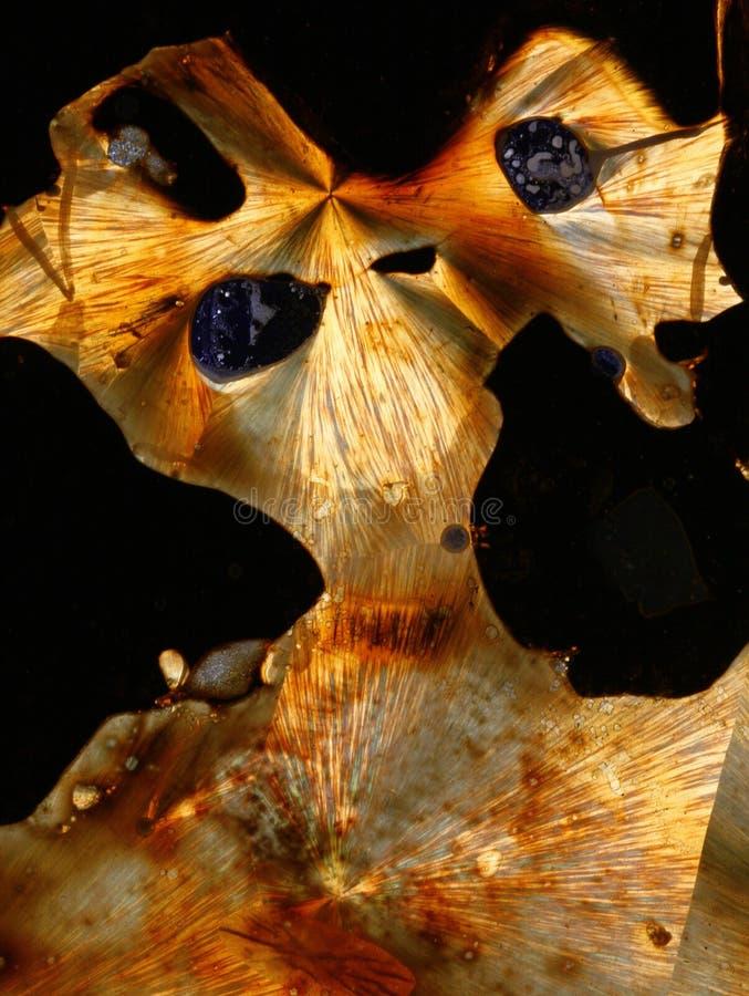 Het gekristalliseerde Ontwerp van de Zwavel stock afbeelding