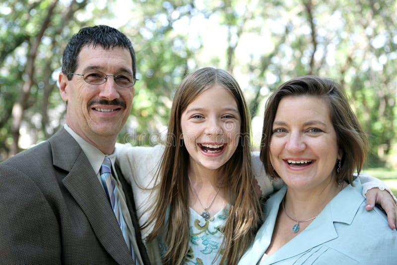 Het Gelach van de familie royalty-vrije stock fotografie