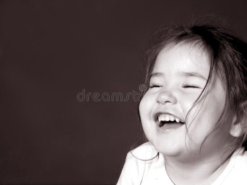 Het Gelach van kinderjaren royalty-vrije stock afbeeldingen