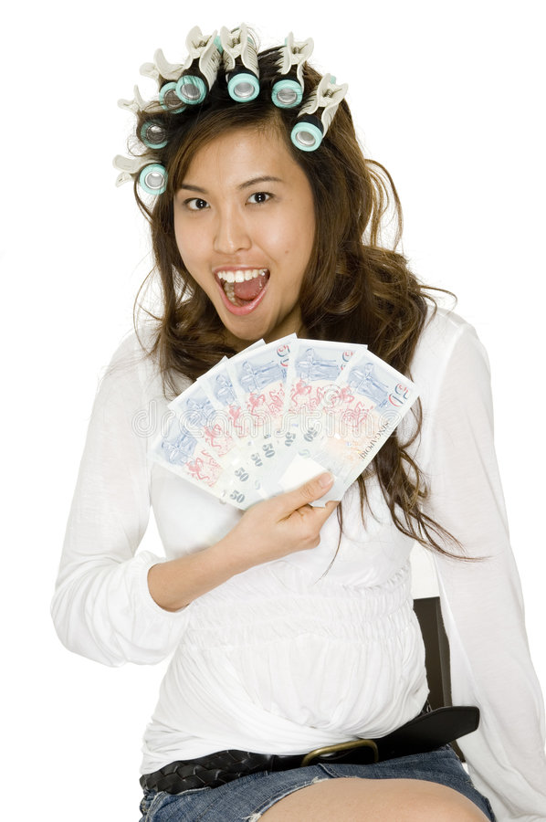 In het Geld royalty-vrije stock foto