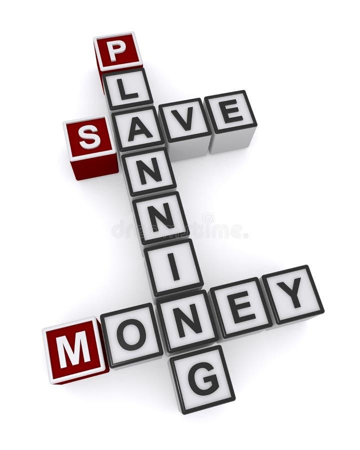 Het geld bewaart planning royalty-vrije illustratie