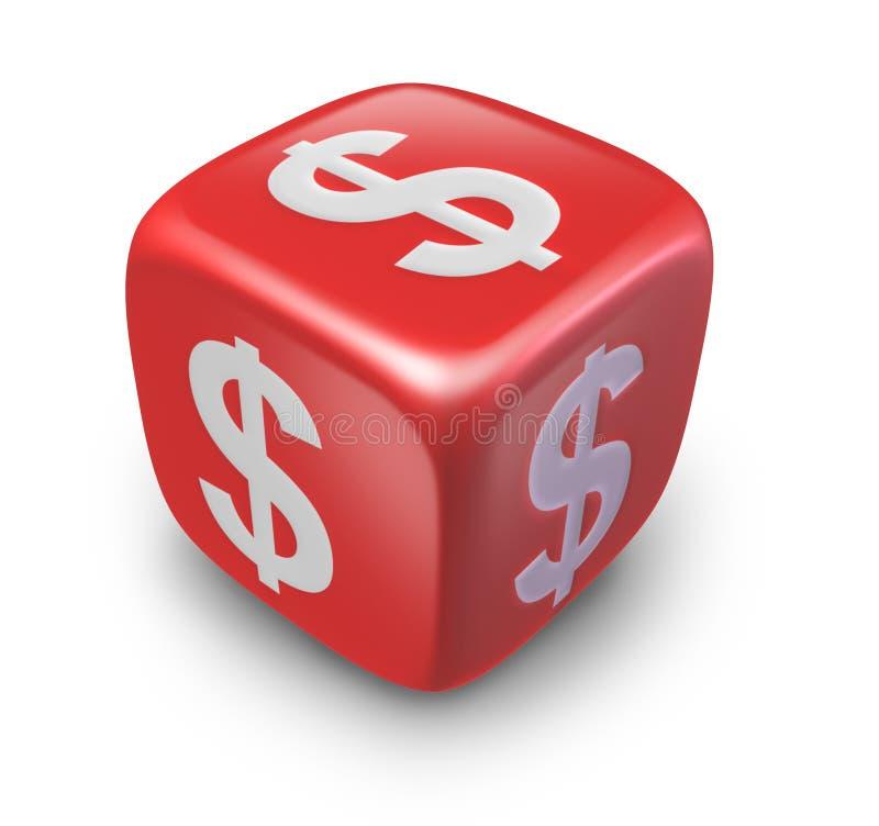 Het geld dobbelt stock illustratie
