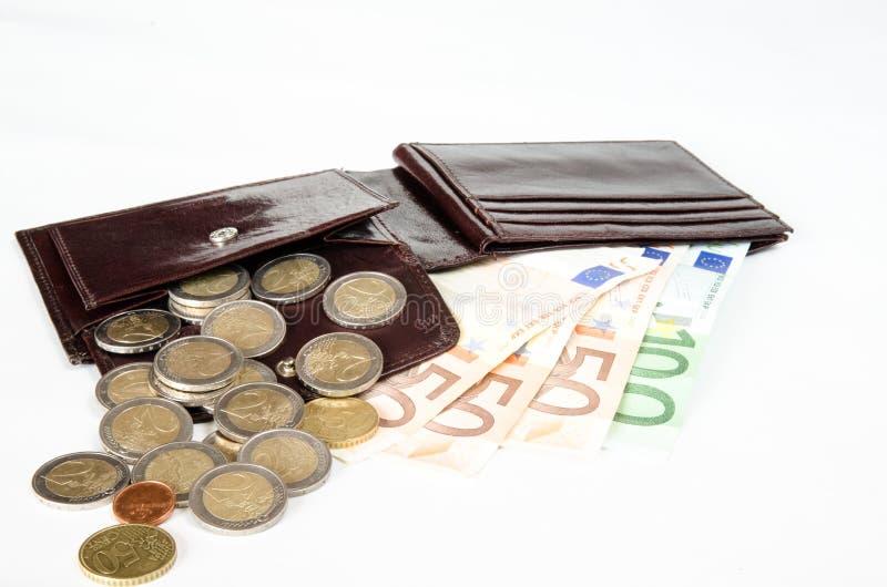 Het geld ontsproot twee stock fotografie