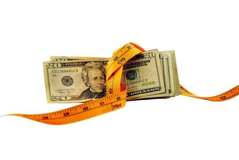 Het geld is Strak stock afbeelding