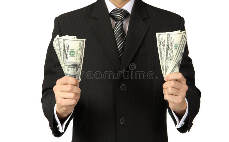Het geld ter beschikking stock afbeelding