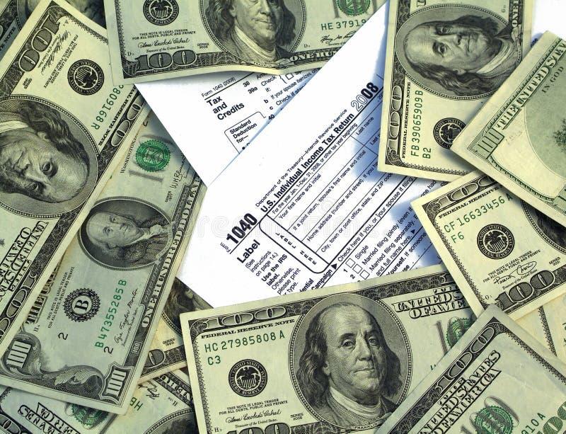 Het Geld van de belasting stock foto's