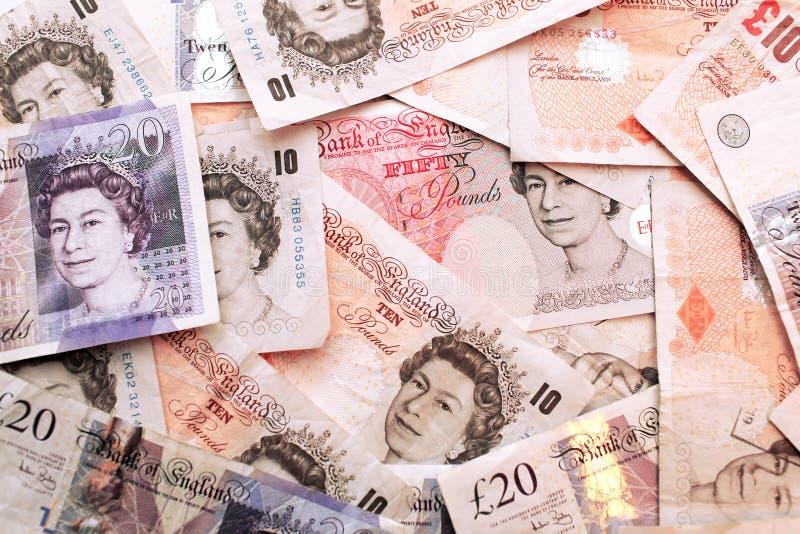 het Geld van de Britse Bankbiljetten van de Munt stock fotografie
